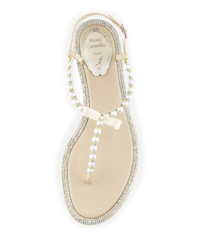 2035a4b8199 PEARL FASHION  Pearly   Crystal Flat Thong Sandals at Neiman Marcus ...