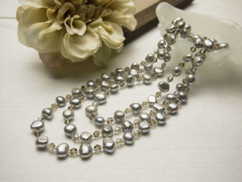 white flat pearls