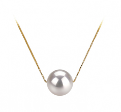 8-9mm AAA Quality Japanese Akoya Cultured Pearl Pendant in Kristine White
