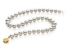 7.5-8mm Hanadama - AAAA Quality Japanese Akoya Cultured Pearl Necklace in Hanadama 18-inch White