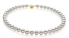 8.5-9mm Hanadama - AAAA Quality Japanese Akoya Cultured Pearl Necklace in Hanadama 23-inch White