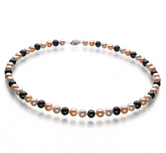 6-7mm AA Quality Freshwater Cultured Pearl Necklace in Multicolour