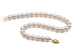 6-7mm A+ Quality Chinese Akoya Cultured Pearl Necklace in White