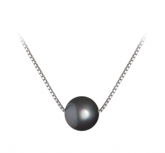 8-9mm AA Quality Freshwater Cultured Pearl Pendant in Madison Black