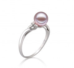 6-7mm AAAA Quality Freshwater Cultured Pearl Ring in Andrea Lavender