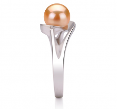 6-7mm AAA Quality Freshwater Cultured Pearl Ring in Clare Pink