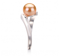 6-7mm AAA Quality Freshwater Cultured Pearl Ring in Dana Pink