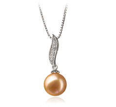 9-10mm AAA Quality Freshwater Cultured Pearl Pendant in Clementina Pink