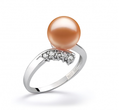 9-10mm AAAA Quality Freshwater Cultured Pearl Ring in Grace Pink