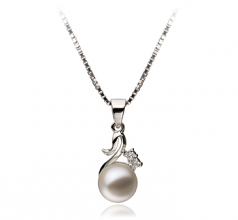 6-7mm AAAA Quality Freshwater Cultured Pearl Pendant in Ariana White