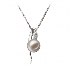 7-8mm AAAA Quality Freshwater Cultured Pearl Pendant in Destina White