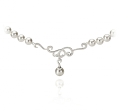 6-9mm AA Quality Japanese Akoya Cultured Pearl Necklace in Almira White