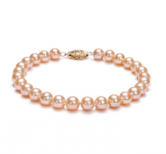 6-7mm AA Quality Freshwater Cultured Pearl Bracelet in Pink
