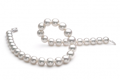 12-15mm AAA Quality South Sea Cultured Pearl Necklace in White