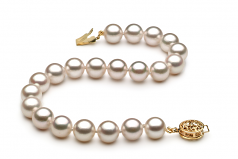 7.5-8mm AA Quality Japanese Akoya Cultured Pearl Bracelet in White