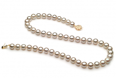 7.5-8mm AA Quality Japanese Akoya Cultured Pearl Necklace in White