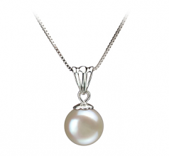 9-10mm AA Quality Freshwater Cultured Pearl Pendant in Nancy White
