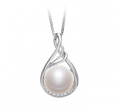 10-11mm AAA Quality Freshwater Cultured Pearl Pendant in Lori White