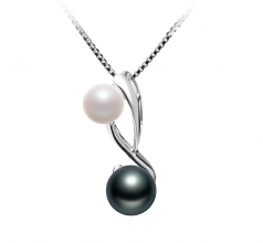 5-8mm AAAA Quality Freshwater Cultured Pearl Pendant in Bailey White