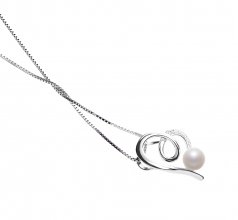 5-6mm AAAA Quality Freshwater Cultured Pearl Pendant in Coco White