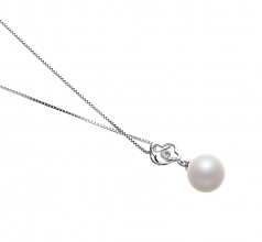 10-11mm AAAA Quality Freshwater Cultured Pearl Pendant in Yael White