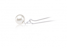 9-10mm AAAA Quality Freshwater Cultured Pearl Pendant in Vondra White