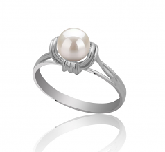 6-7mm AAAA Quality Freshwater Cultured Pearl Ring in Joy White