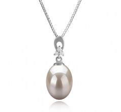 9-10mm AAA Quality Freshwater Cultured Pearl Pendant in Bambie White