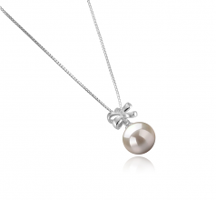 10-11mm AAAA Quality Freshwater Cultured Pearl Pendant in Marte White