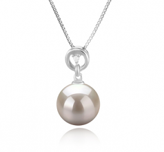 10-11mm AAAA Quality Freshwater Cultured Pearl Pendant in Bonita White
