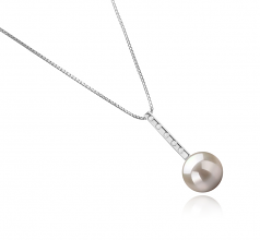 10-11mm AAAA Quality Freshwater Cultured Pearl Pendant in Vanna White