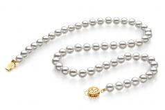 7-7.5mm Hanadama - AAAA Quality Japanese Akoya Cultured Pearl Necklace in Hanadama 23-inch White
