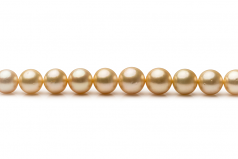 9.6-12.6mm AA+ Quality South Sea Cultured Pearl Necklace in 18-inch Gold