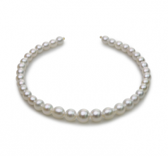 8.3-14mm Baroque Quality South Sea Cultured Pearl Necklace in 18-inch White