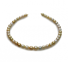 8.2-12mm Baroque Quality South Sea Cultured Pearl Necklace in 18-inch Multicolour