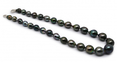 8-14mm Baroque Quality Tahitian Cultured Pearl Necklace in 17-inch Multicolour