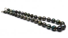 10-14mm Baroque Quality Tahitian Cultured Pearl Necklace in 17.5-inch Multicolour