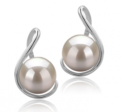 6-7mm AAAA Quality Freshwater Cultured Pearl Earring Pair in Tamika White
