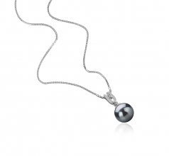 8-9mm AAAA Quality Freshwater Cultured Pearl Pendant in Nerea Black