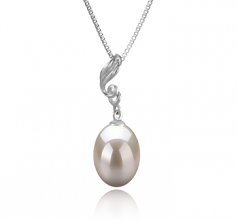 10-11mm AAA Quality Freshwater Cultured Pearl Pendant in Deborah White