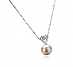 9-10mm AAAA Quality Freshwater Cultured Pearl Pendant in Adelina White