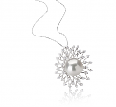 13-14mm AA+ Quality Freshwater - Edison Cultured Pearl Pendant in Edison Lexi White