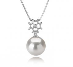 11-12mm AAAA Quality Freshwater - Edison Cultured Pearl Pendant in Tatiana White
