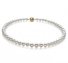 6-9mm Hanadama - AAAA Quality Japanese Akoya Cultured Pearl Necklace in Hanadama 18-inch White