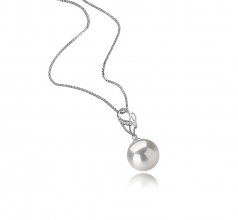11-12mm AAAA Quality Freshwater - Edison Cultured Pearl Pendant in Moira White