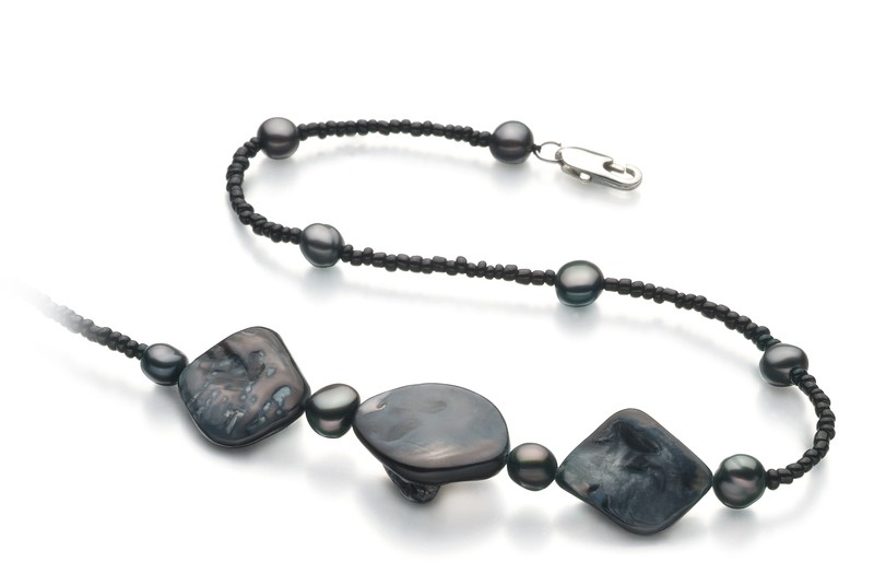 Ashley Black 3.5-4mm A Quality Freshwater Pearl Necklace
