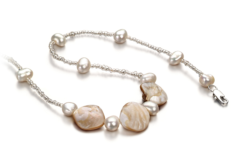 Ashley White 3.5-4mm A Quality Freshwater Pearl Necklace