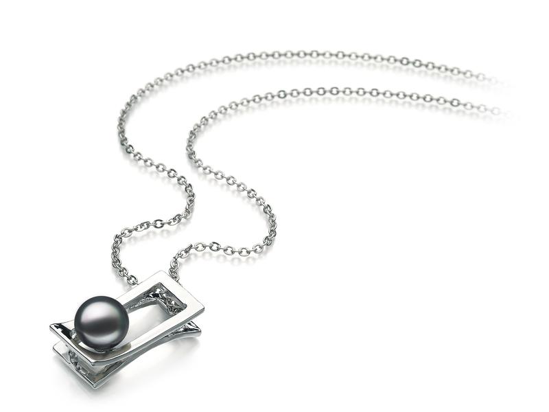 Athena Black 7-8mm AA Quality Freshwater White Bronze Pearl Pendant