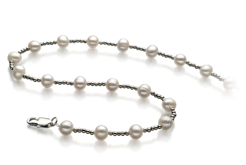 Atina White 6-7mm A Quality Freshwater Pearl Necklace
