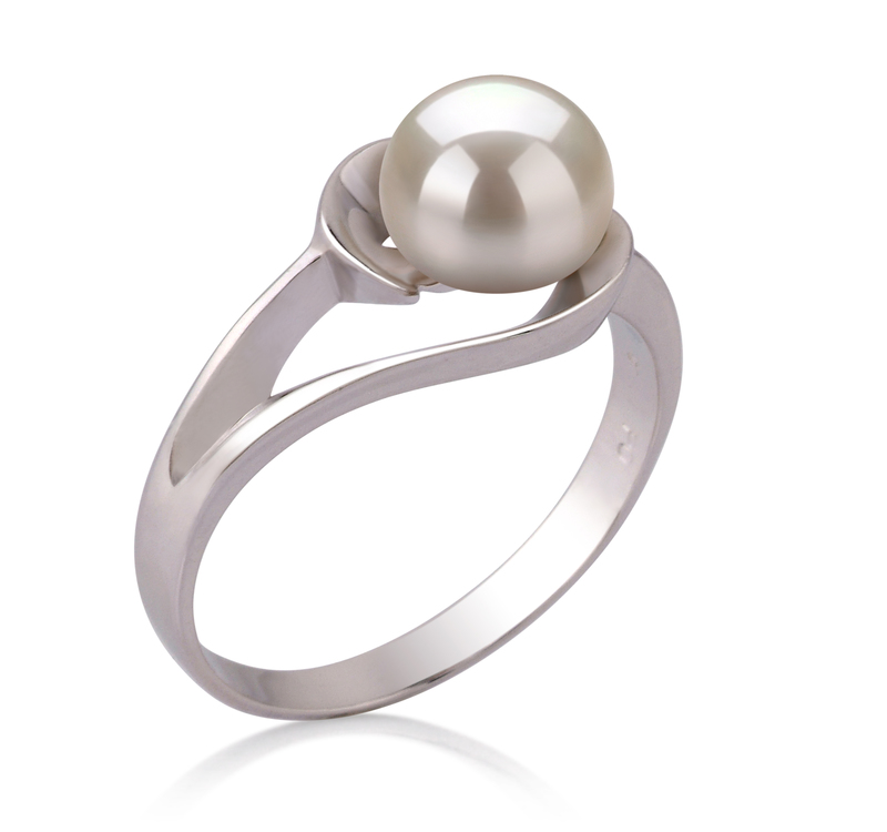 6-7mm AAA Quality Freshwater Cultured Pearl Ring in Clare White